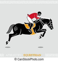 atleta, equestre
