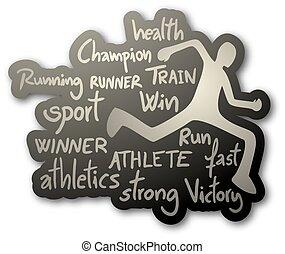 atleta, icona