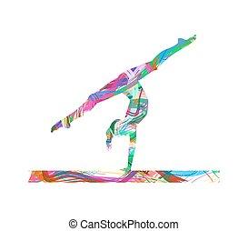 atleta, illustrazione