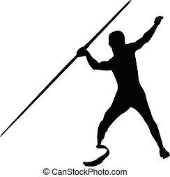 atleta inválido, javelin, lançamento