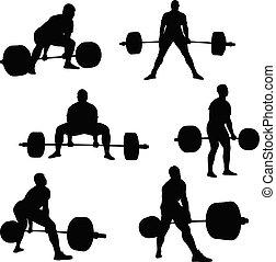 atleta, jogo, powerlifter