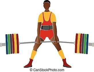 atleta, jovem, powerlifter
