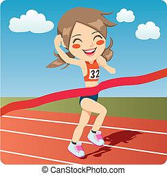 atleta, mulher