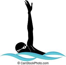 atleta, nuotatore