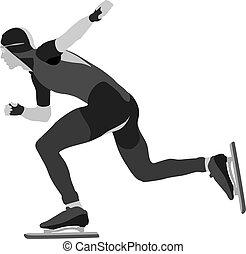 atleta, szybkość łyżwiarz