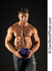 atleta, torso, you., chest., deportista, special., muscular,...