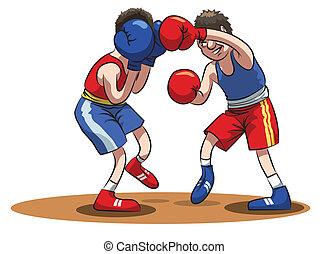 atletas, -, boxeadores