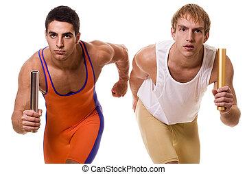 atletas, carreras, relevo