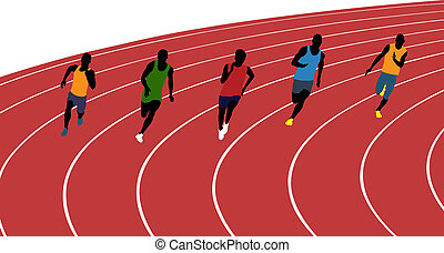 atletas, corredores, hombre