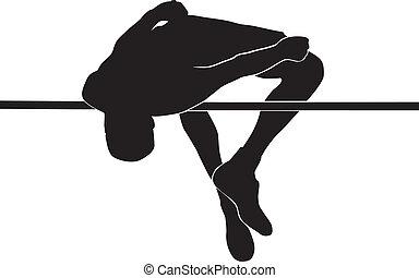 atletas, salto de altura