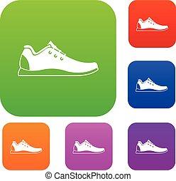 atletico, set, scarpa, collezione