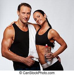 atletico, uomo donna, secondo, esercizio idoneità