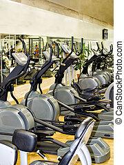 atletisch, xtrainer, machines, in, de, fitnessclub