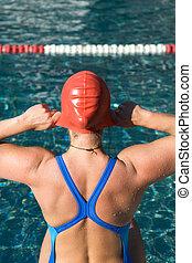atletisch, zwemmer