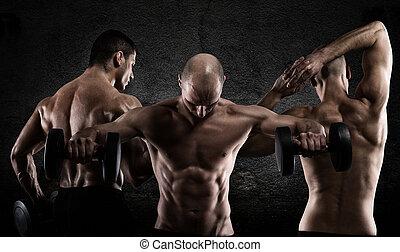 atletisk, män, genomkörare