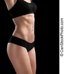 atletisk, sexig, woman., kropp