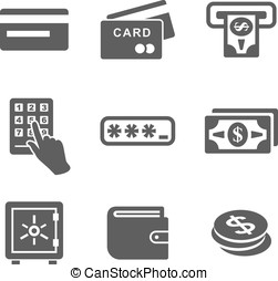 ATM and money icons