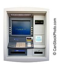 atm, -, automatizált, machine., elszigetelt, bankpénztáros