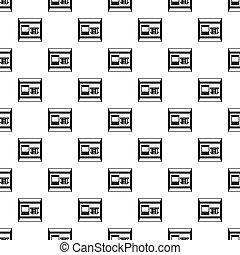 ATM bank cash machine pattern, simple style