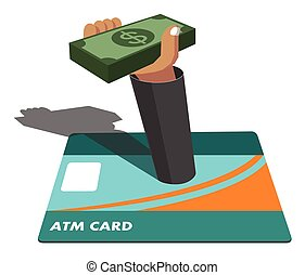 atm card and money