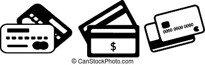 atm card icon on white background