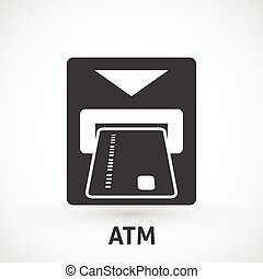 Atm card slot icon