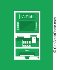 Atm, cash machine icon for banking, financial area