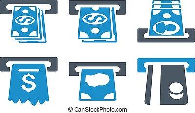 ATM Cashpoint Flat Vector Icons - ATM Cashpoint vector...