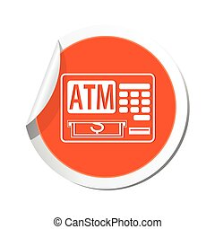 ATM cashpoint icon. Vector illustration