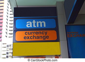 ATM & Currency Exchange Sign