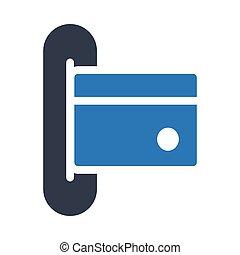 atm glyph color vector icon