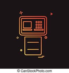 ATM icon design vector