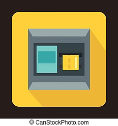 Atm icon, flat style