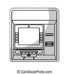 atm icon image - atm icon over white background. vector...