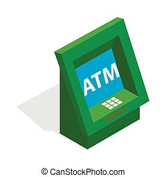 ATM icon, isometric 3d style