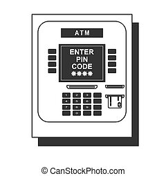 ATM icon - payment terminal . Stock flat vector illustration