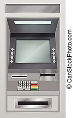 Atm icon, realistic style - Atm icon. Realistic illustration...