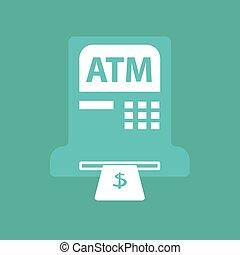 ATM icon symbol. vector
