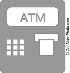 atm icon vector . Atm symbol in flat style