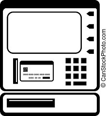ATM Icon Vector Illustration