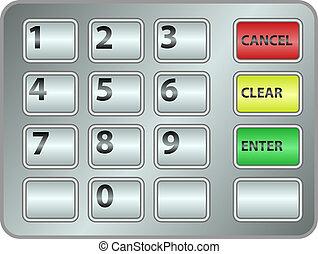 keypad - ATM keypad