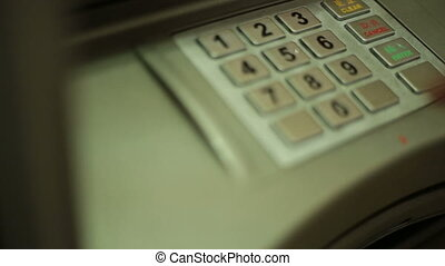 ATM keypad put in PIN