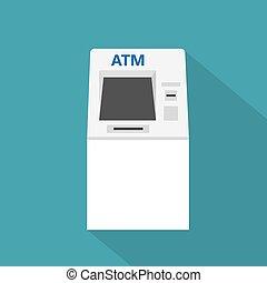 ATM machine icon- vector illustration