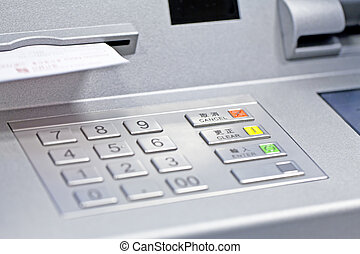 ATM machine in bank