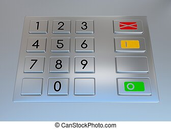 Atm machine keypad.