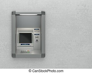 Atm machine on wall