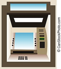 ATM machine vector illustration.