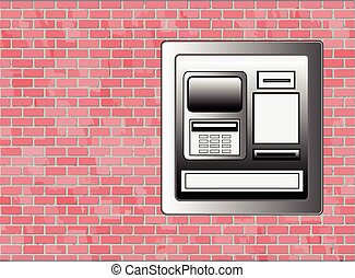 ATM Machine Vector with Copyspace
