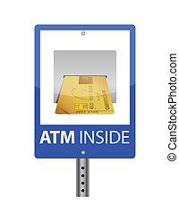 ATM sign