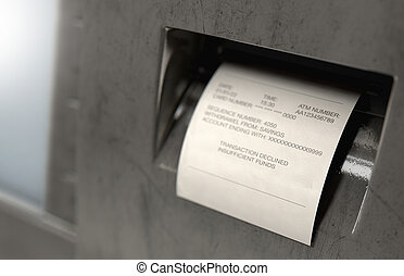 ATM Slip Declined